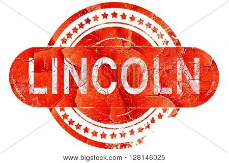 lincoln, vintage old stamp with rough lines and edges