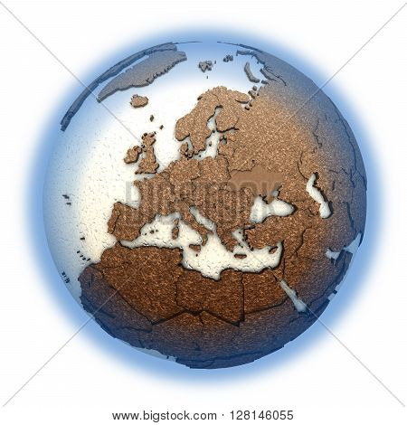 Europe On Light Earth