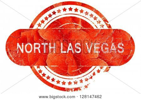 north las vegas, vintage old stamp with rough lines and edges