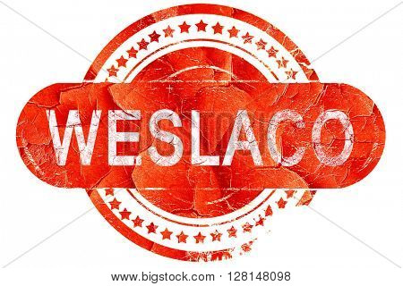 weslaco, vintage old stamp with rough lines and edges