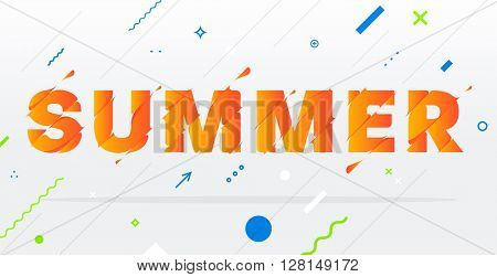 Abstract Summer Typographic Design.