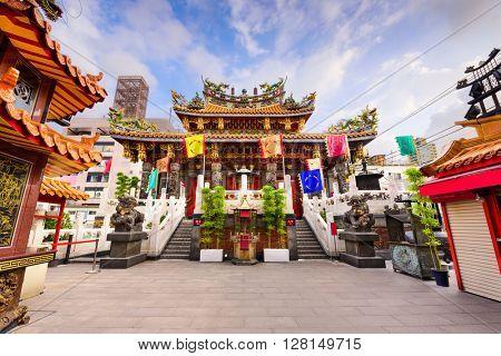 Kwan Tai Temple in Yokohama, Japan.