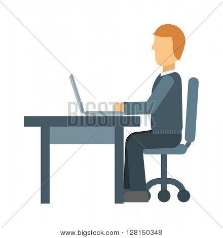 Office worker vector illustration.