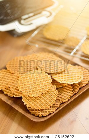 Italian pizzelle holiday cookies