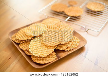 Italian homemade Pizzelle cookie