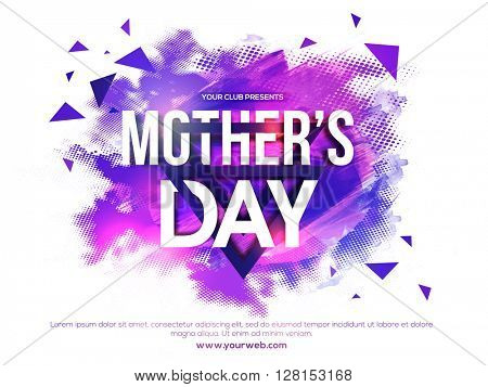 Abstract design decorated, Creative Poster, Banner or Flyer for Mother's Day Party celebration.