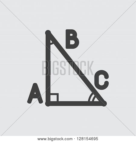 Math triangle icon illustration isolated vector sign symbol