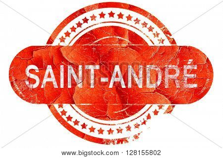 saint-andre, vintage old stamp with rough lines and edges
