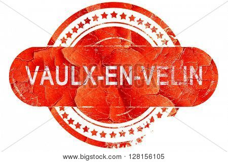 vaulx-en-velin, vintage old stamp with rough lines and edges