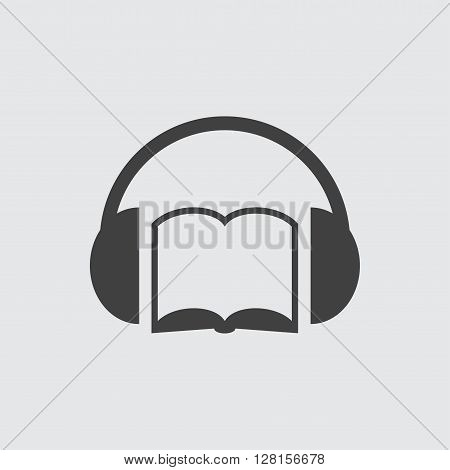 Audio book icon illustration isolated vector sign symbol