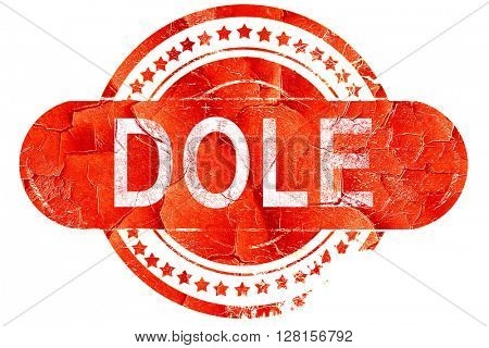 dole, vintage old stamp with rough lines and edges