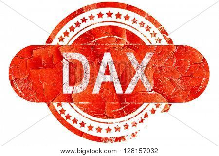 dax, vintage old stamp with rough lines and edges