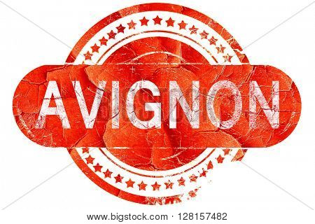 avignon, vintage old stamp with rough lines and edges