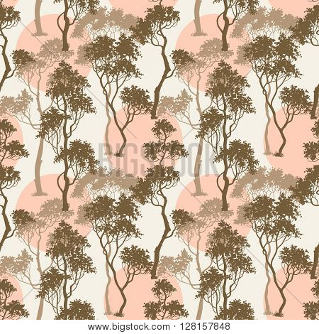 Trees pattern, forest background