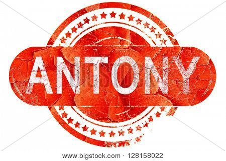 antony, vintage old stamp with rough lines and edges