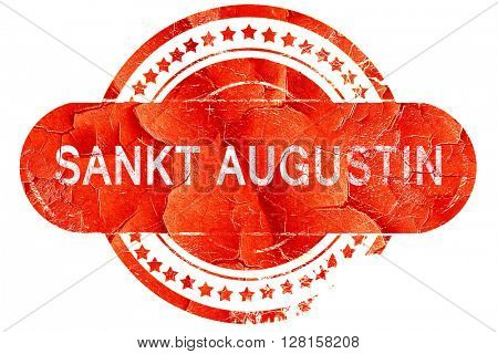 Sankt Augustin, vintage old stamp with rough lines and edges