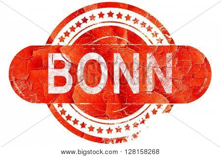 Bonn, vintage old stamp with rough lines and edges