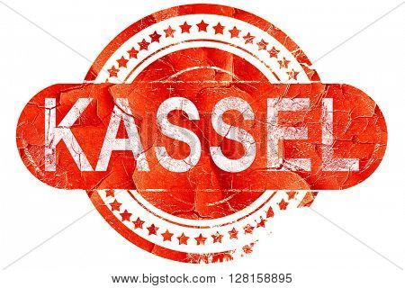 Kassel, vintage old stamp with rough lines and edges