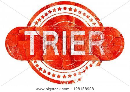 Trier, vintage old stamp with rough lines and edges