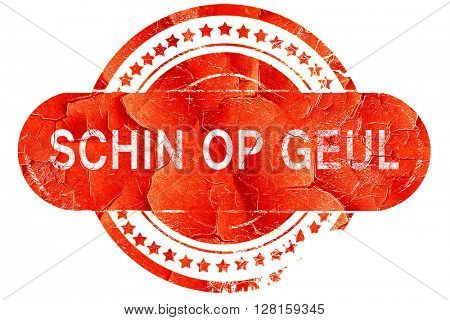 Schin op geul, vintage old stamp with rough lines and edges