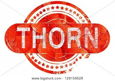 Thorn, vintage old stamp with rough lines and edges
