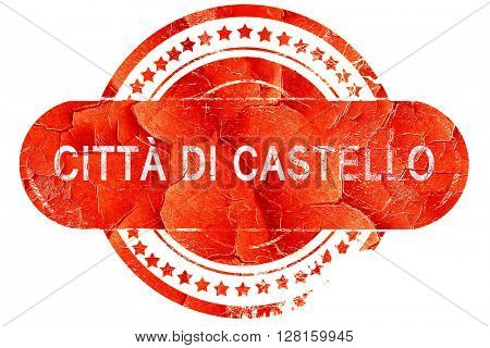 Citta di castello, vintage old stamp with rough lines and edges