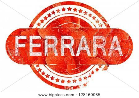 Ferrara, vintage old stamp with rough lines and edges