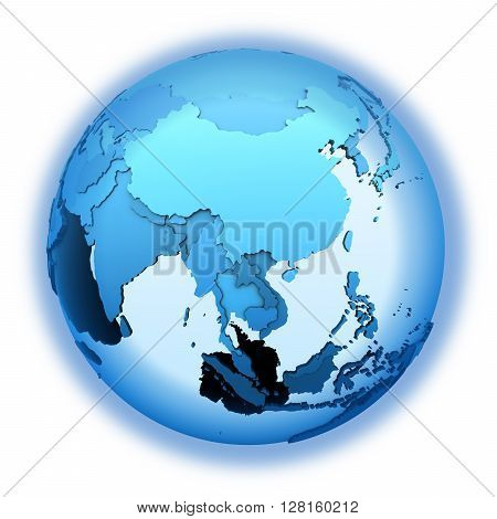 Southeast Asia On Translucent Earth