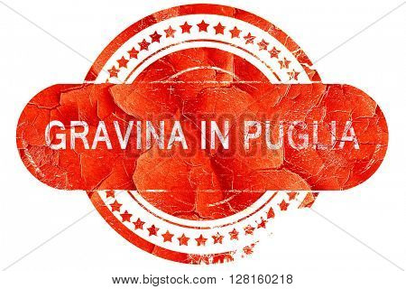 Gravina in puglia, vintage old stamp with rough lines and edges