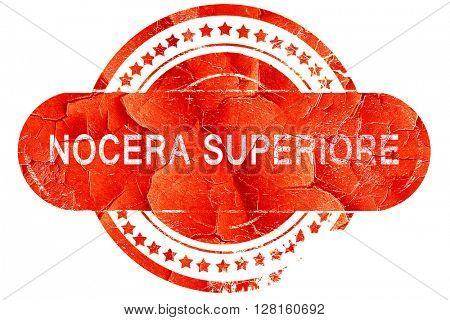 Nocera superiore, vintage old stamp with rough lines and edges