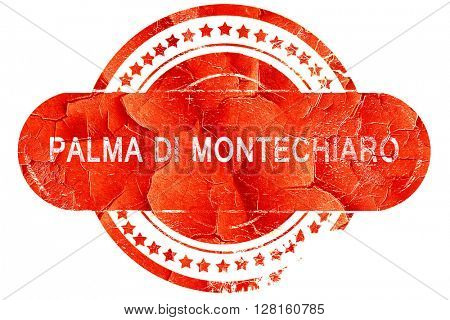 Palma di montechiaro, vintage old stamp with rough lines and edg