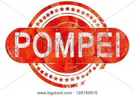 Pompei, vintage old stamp with rough lines and edges