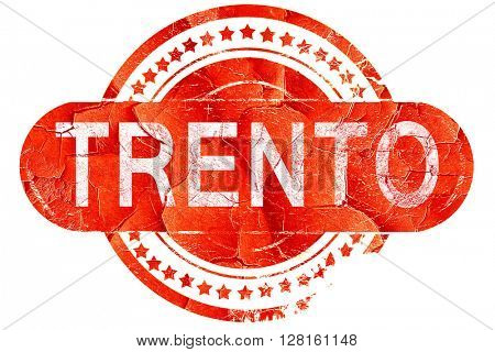 Trento, vintage old stamp with rough lines and edges