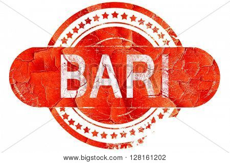 Bari, vintage old stamp with rough lines and edges