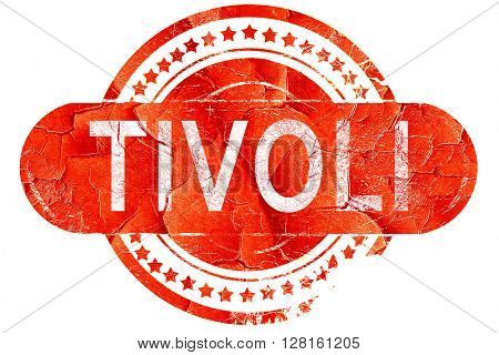 Tivoli, vintage old stamp with rough lines and edges