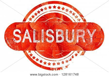 salisbury, vintage old stamp with rough lines and edges