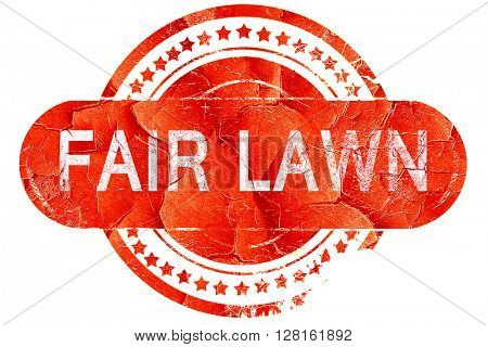 fair lawn, vintage old stamp with rough lines and edges