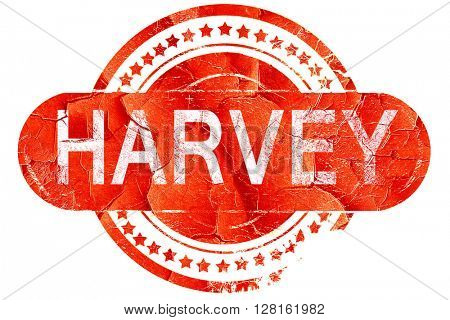 harvey, vintage old stamp with rough lines and edges