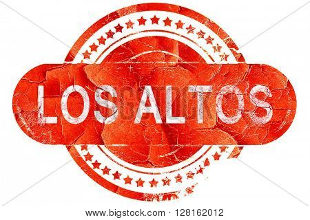 los altos, vintage old stamp with rough lines and edges