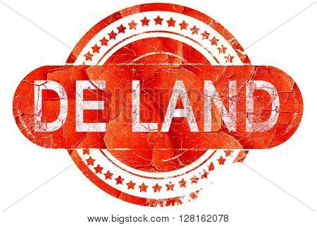 de land, vintage old stamp with rough lines and edges