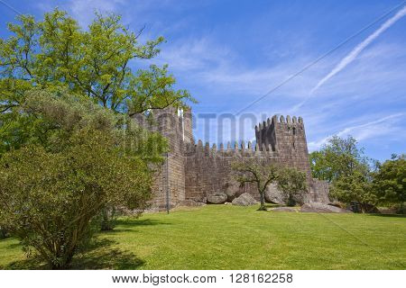 Guimaraes castle detail, in the north of Portugal.
