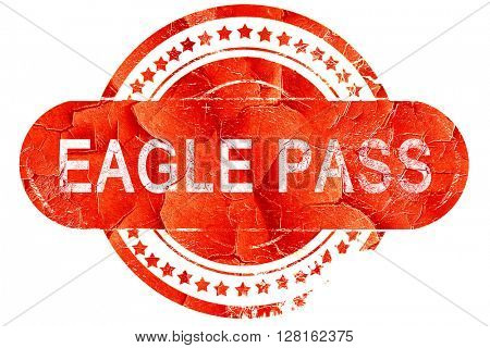 eagle pass, vintage old stamp with rough lines and edges