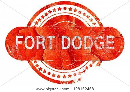 fort dodge, vintage old stamp with rough lines and edges