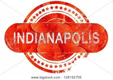 indianapolis, vintage old stamp with rough lines and edges