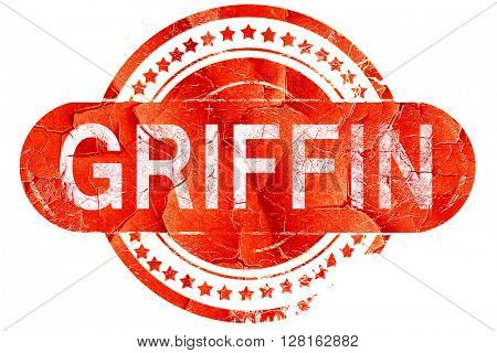 griffin, vintage old stamp with rough lines and edges