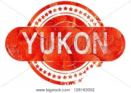 yukon, vintage old stamp with rough lines and edges