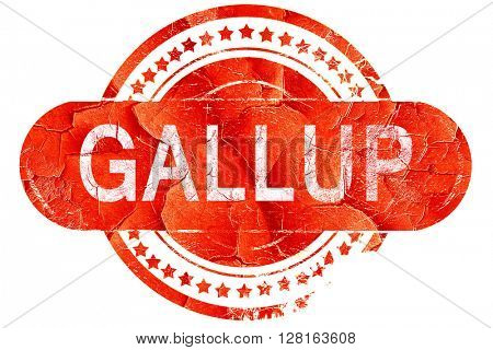 gallup, vintage old stamp with rough lines and edges