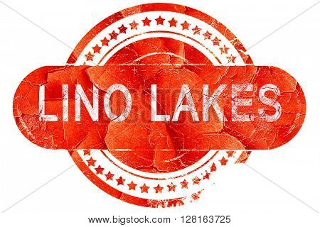 lino lakes, vintage old stamp with rough lines and edges
