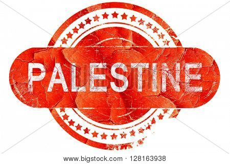 palestine, vintage old stamp with rough lines and edges