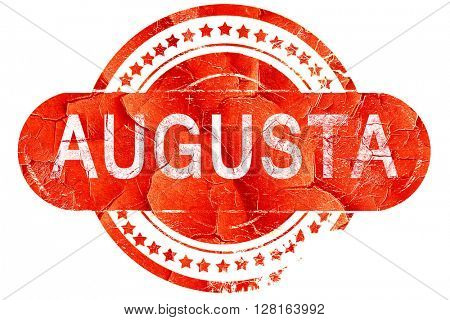 augusta, vintage old stamp with rough lines and edges